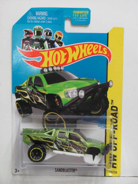 HOT WHEELS 2014 HW OFF-ROAD HW HOT TRUCKS SANDBLASTER WHEELS ERROR