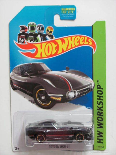 HOT WHEELS 2014 HW WORKSHOP - HW ALL STARS TOYOTA 2000 GT BASE ERROR
