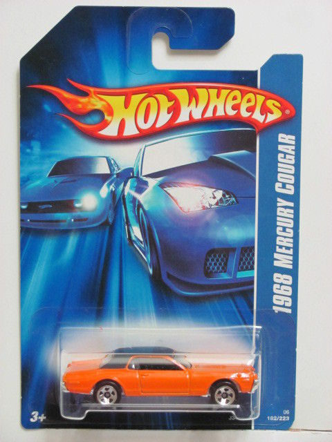 HOT WHEELS 2006 1968 MERCURY COUGAR ORANGE