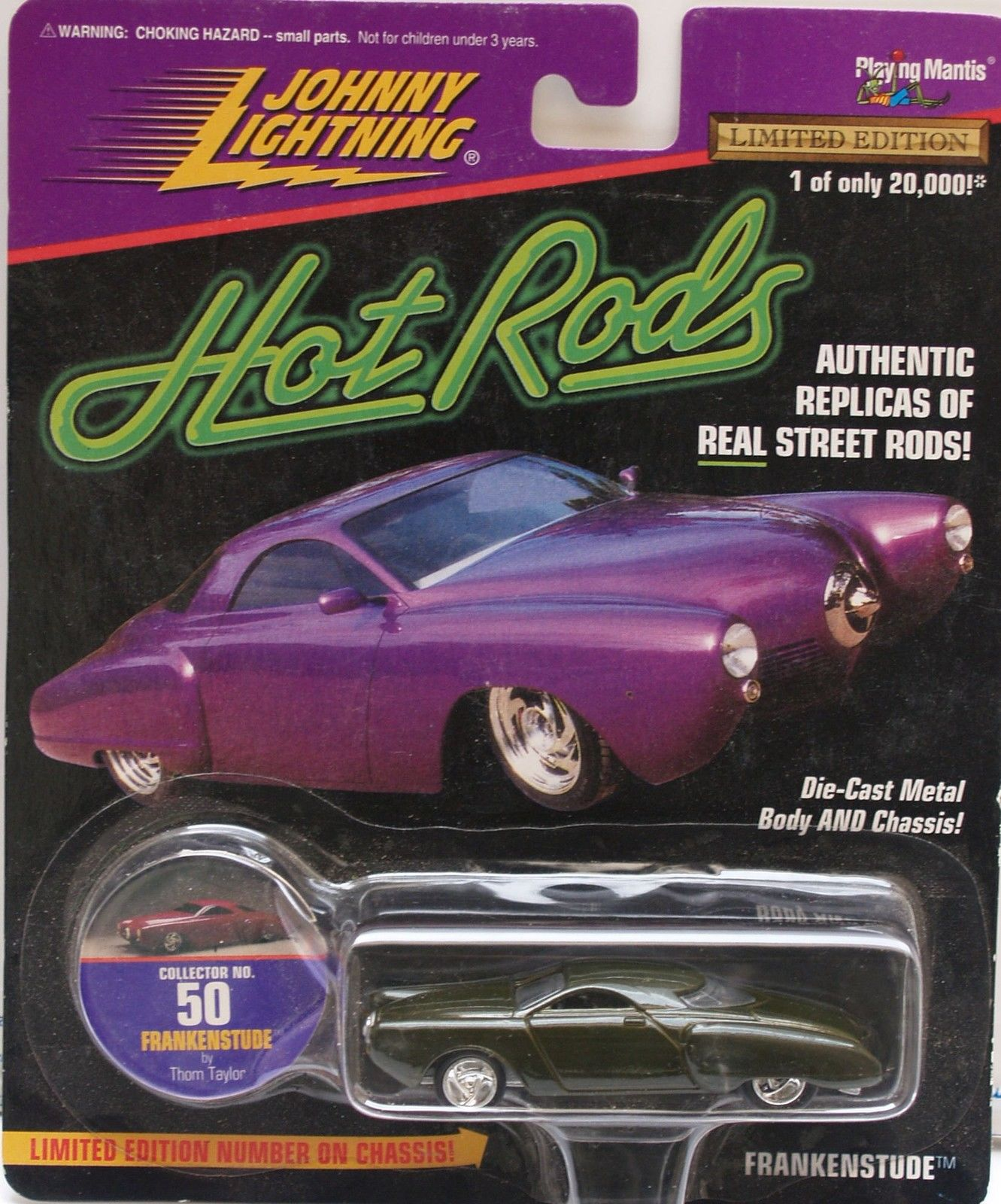 1997 JOHNNY LIGHTNING HOT RODS - FRANKENSTUDE - LIMITED EDITION