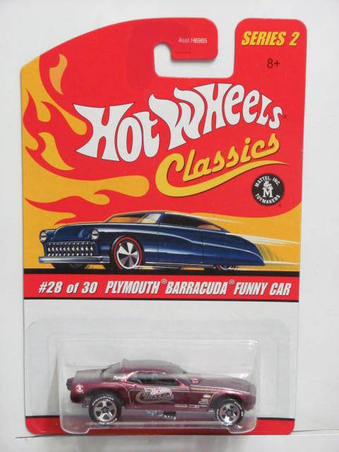 HOT WHEELS CLASSICS SERIES 2 PLYMOUTH BARRACUDA FUNNY CAR #28/30