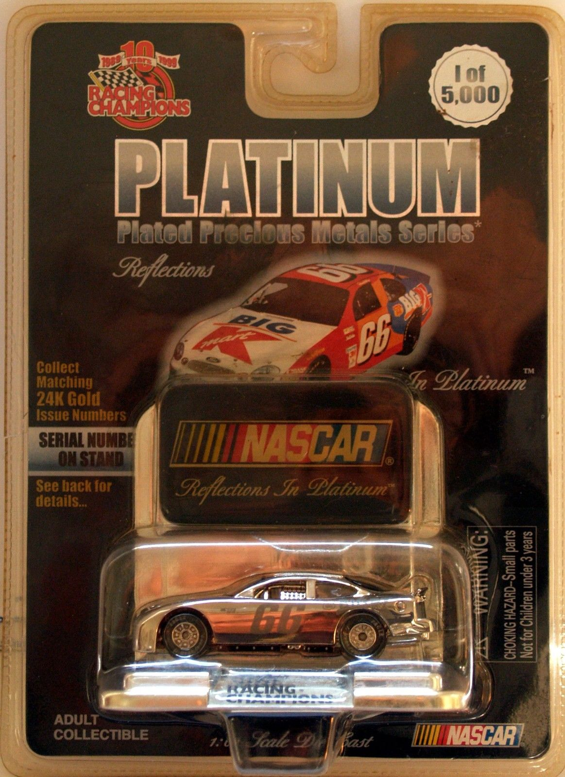 1999 RACING CHAMPIONS PLATINUM SERIES - NASCAR BIG K #66