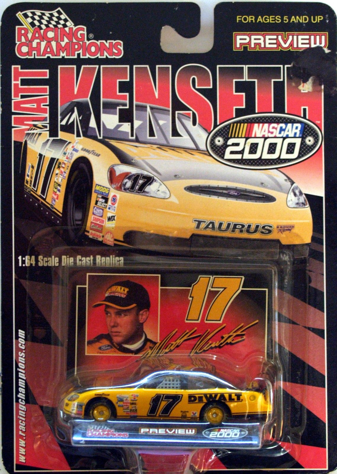 2000 RACING CHAMPIONS NASCAR - PREVIEW SERIES - #17 MATT KENSETH