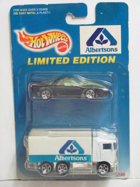 HOT WHEELS 1997 ALBERTSONS BANSHEE - HIWAY HAULER 2 CAR PACK