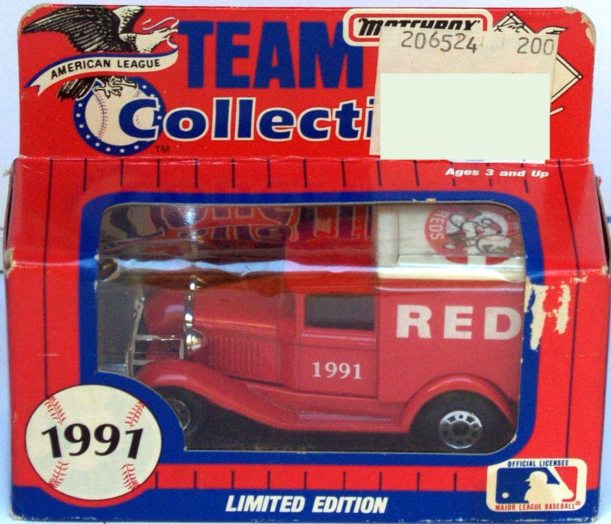 1991 MATCHBOX - TEAM MLB AMERICAN LEAGUE COLLECTIBLE - 1991 REDS