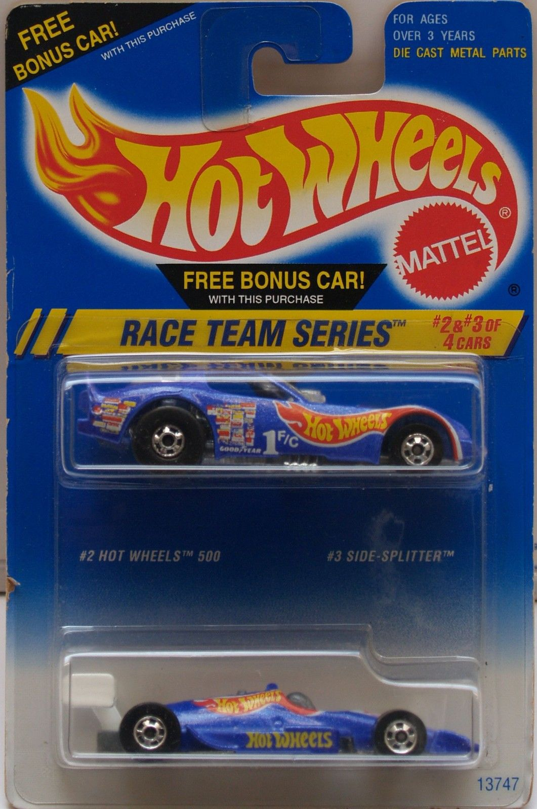 1994 HOT WHEELS - RACE TEAM SERIES - CARS #2 & #3 - 2 CAR PACK