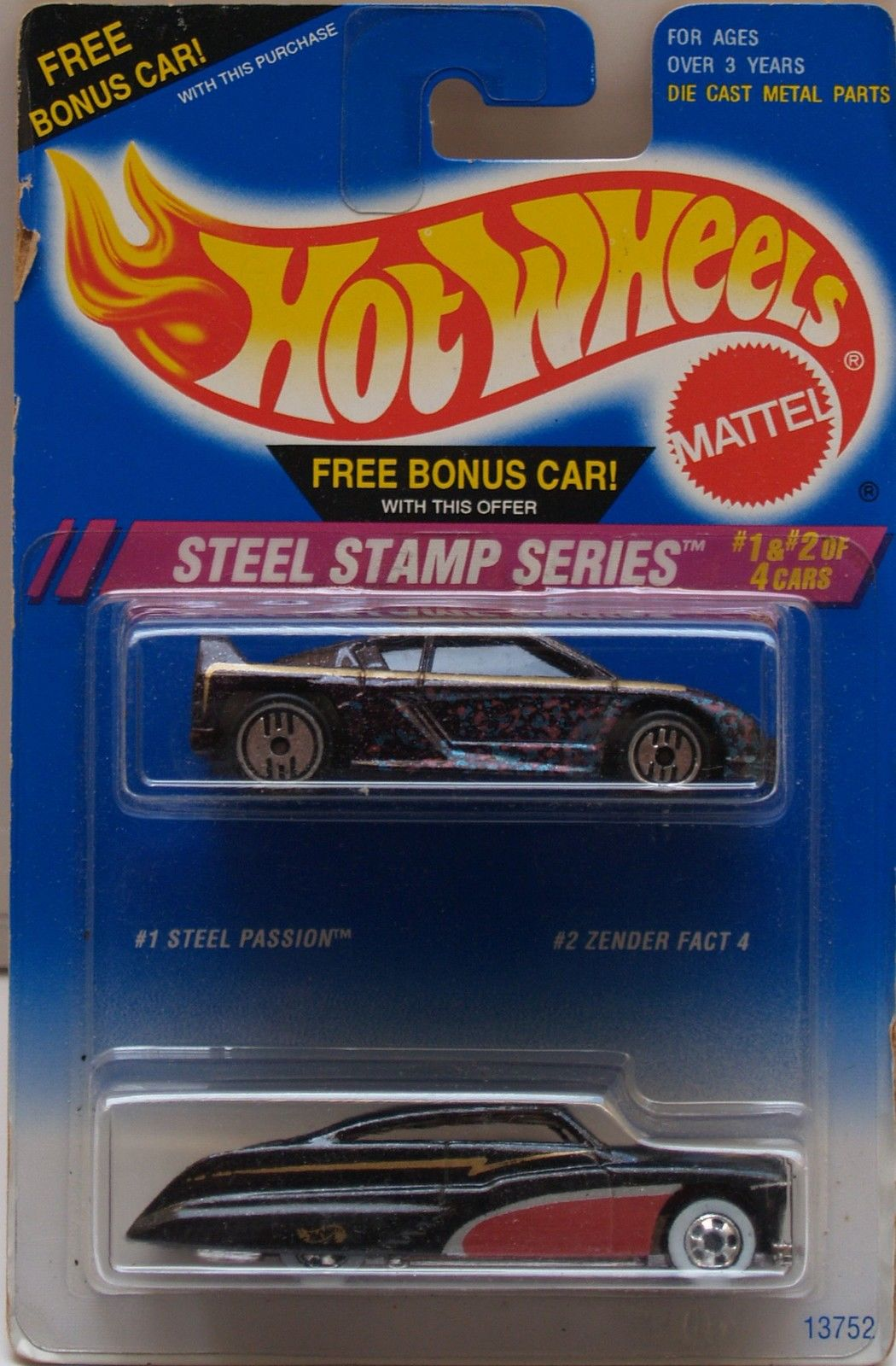1994 HOT WHEELS - STEEL STAMP SERIES - CARS #1 & #2 - 2 CAR PACK