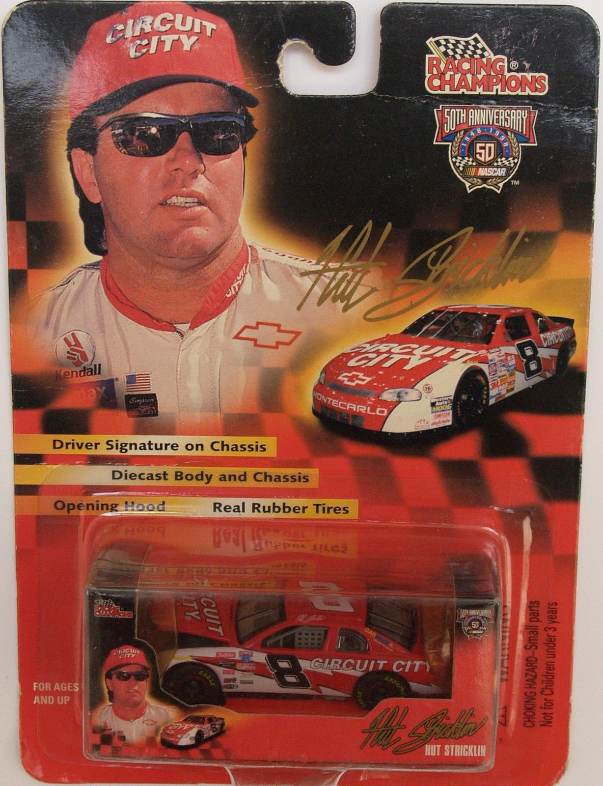 1998 RACING CHAMPIONS - HUT STRICKLIN - #8 CIRCUIT CITY