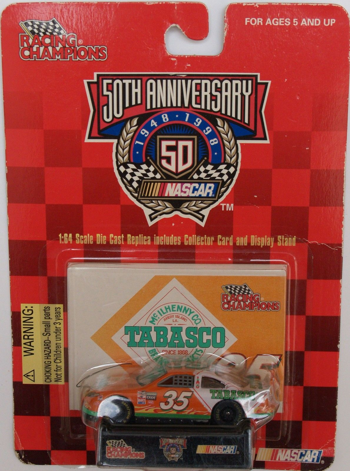 1998 RACING CHAMPIONS - NASCAR 50TH ANNIVERSARY - #35 TABASCO