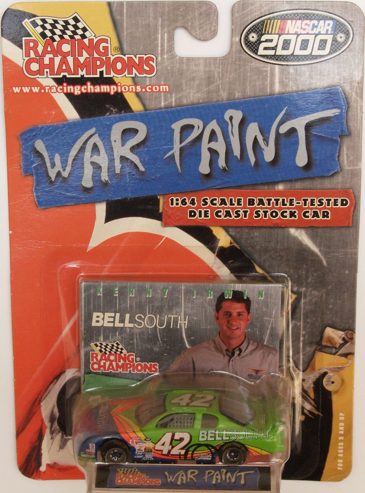 2000 RACING CHAMPIONS NASCAR - WAR PAINT - #42 BELLSOUTH