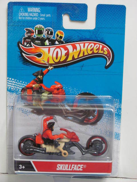 HOT WHEELS MOTORCYCLES SKULLFACE