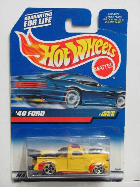 HOT WHEELS 1999 '40 FORD COLLECT. #1069 YELLOW MIB