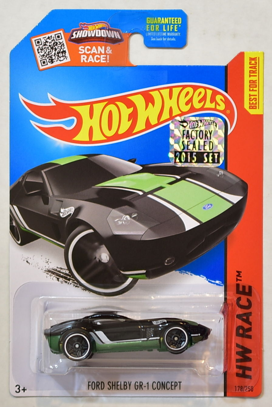 HOT WHEELS 2015 HW RACE FORD SHELBY GR-1 CONCEPT BLACK FACTORY SEALED E+
