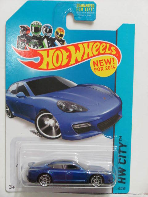 HOT WHEELS 2014 HW CITY - SPEED TEAM PORSCHE PANAMERA BLUE