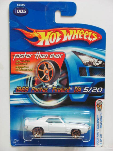 HOT WHEELS 2005 FIRST EDITIONS 1969 PONTIAC FIREBIRD FTE