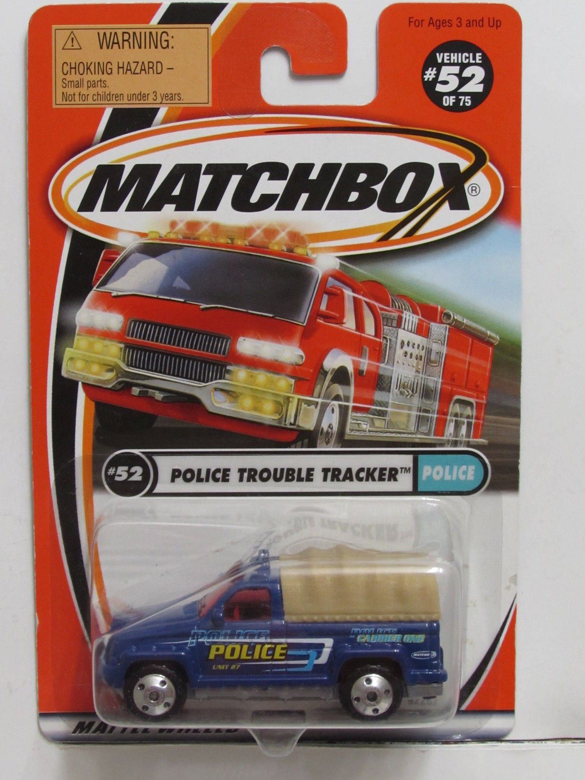 MATCHBOX 2000 POLICE TROUBLE TRACKER #52 POLICE