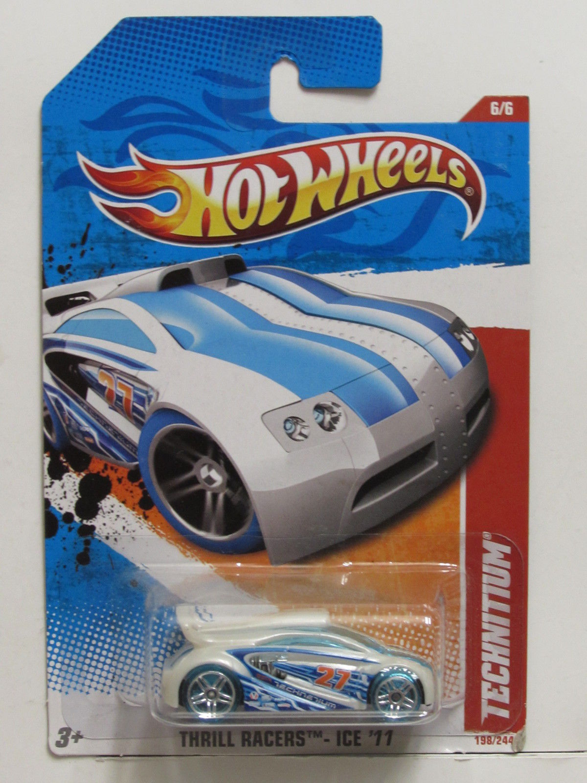 HOT WHEELS 2011 THRILL RACERS - ICE TECHNITIUM WHITE