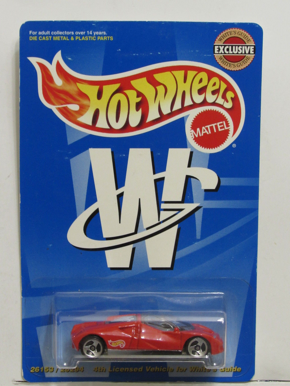 HOT WHEELS WHITE'S GUIDE FORD GT-90 RED