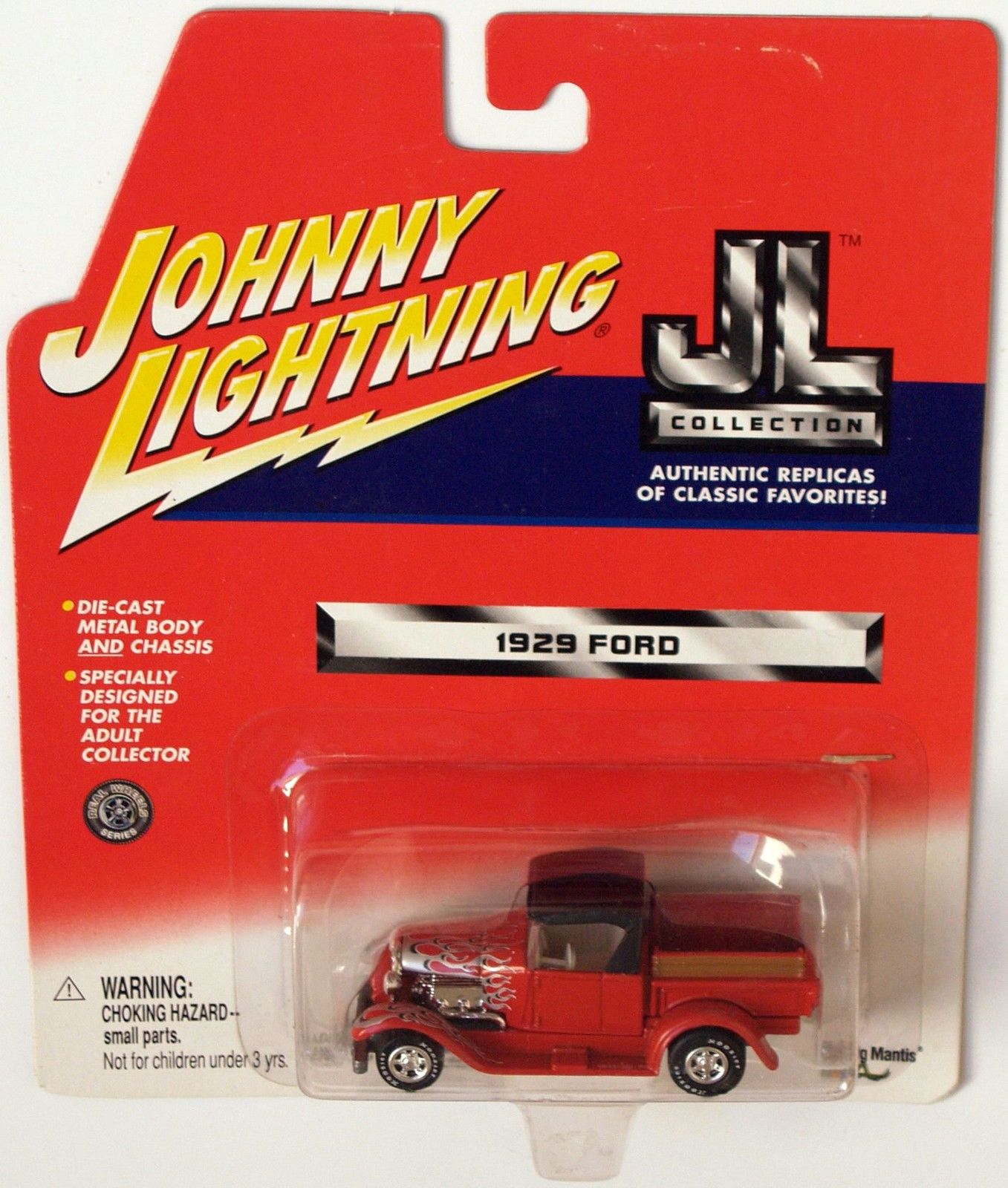 JOHNNY LIGHTNING 2001 - JL COLLECTION - RED 1929 FORD TRUCK