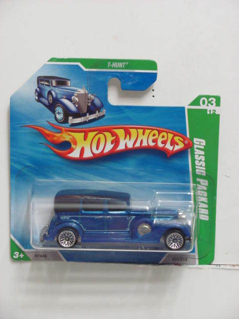 HOT WHEELS 2009 TREASURE HUNT CLASSIC PACKARD REG SHORTCARD