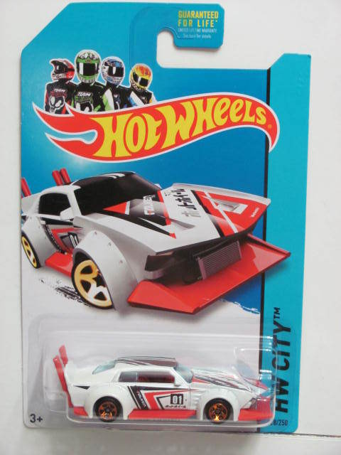 HOT WHEELS 2014 HW CITY - NIGHTBURNERZ MAD MANGA WHITE