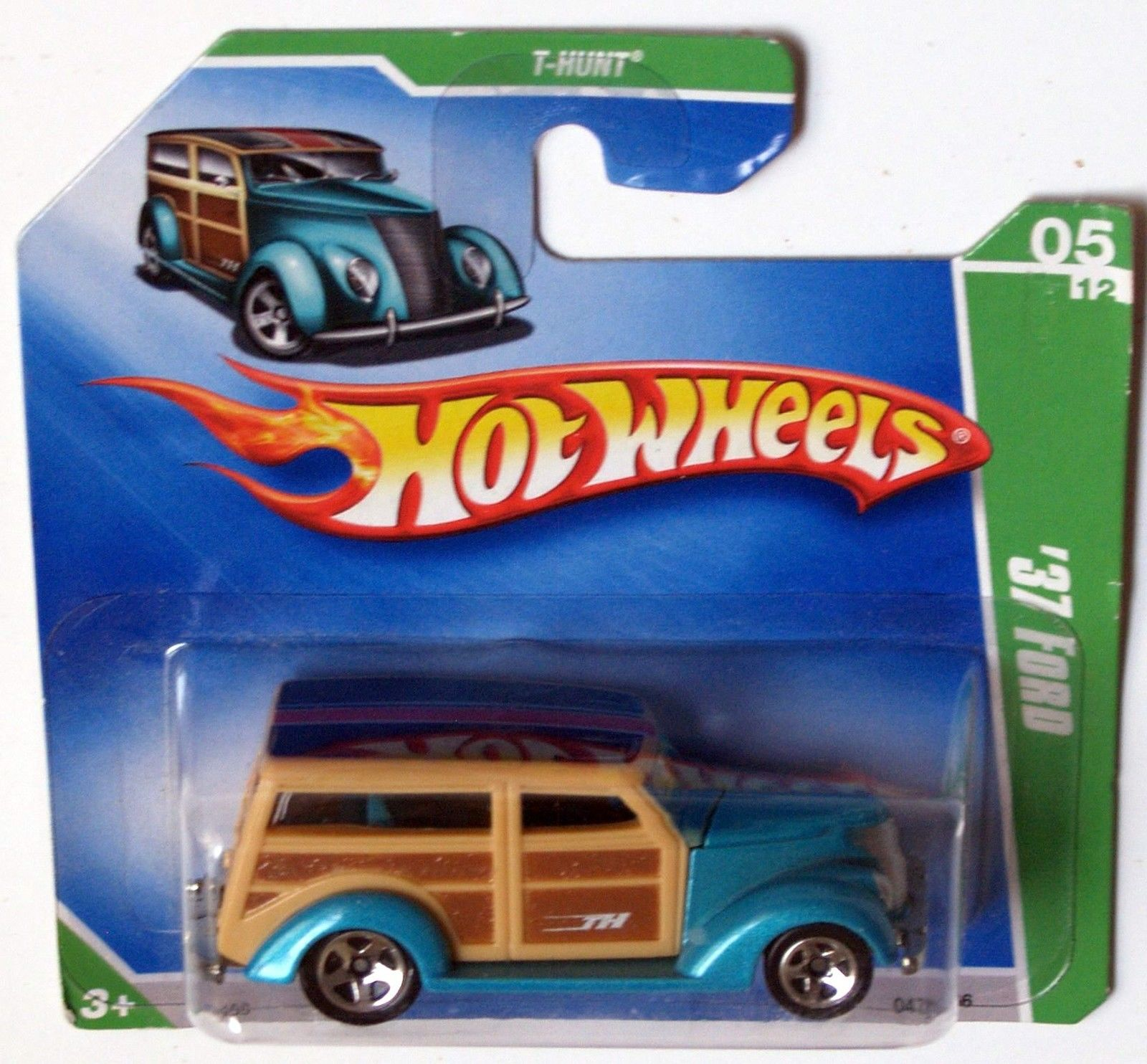 HOT WHEELS 2009 TREASURE HUNT '37 FORD REG SHORTCARD