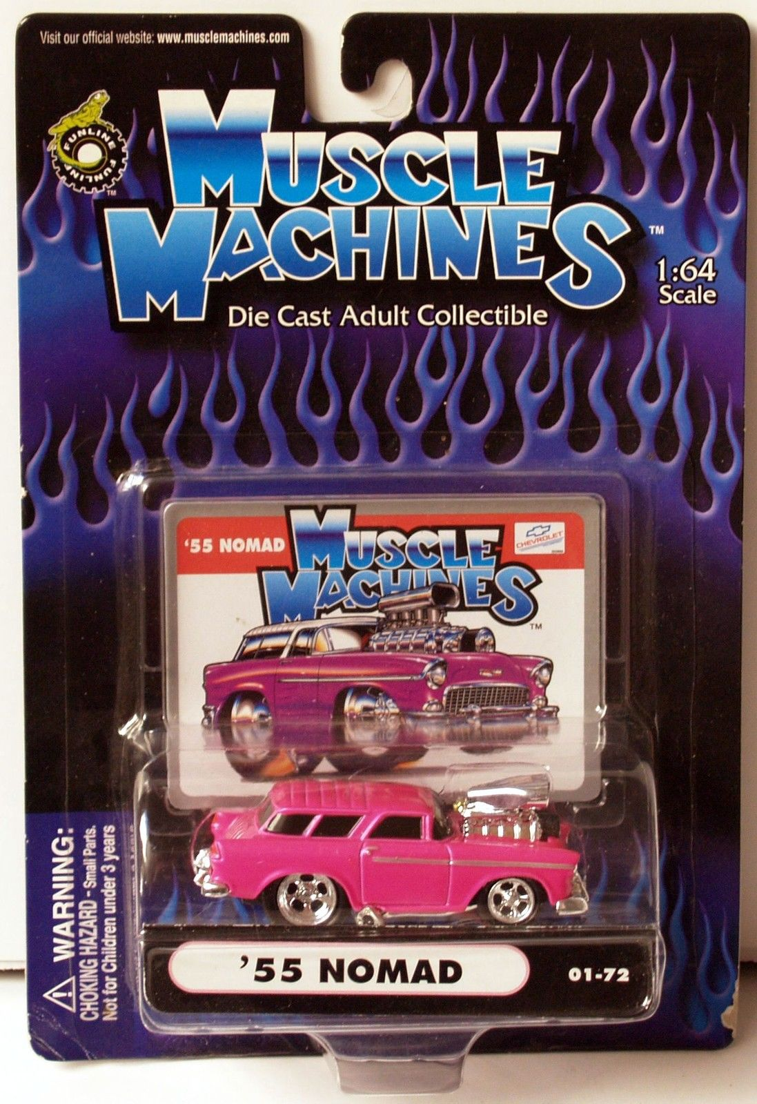 FUNLINE MUSCLE MACHINES 2000 - HOT PINK '55 NOMAD
