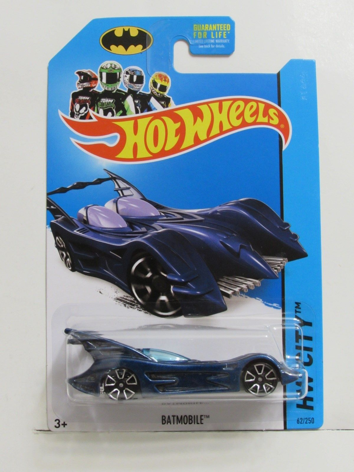 HOT WHEELS 2014 HW CITY - BATMAN 75TH ANNIVERSARY BATMOBILE