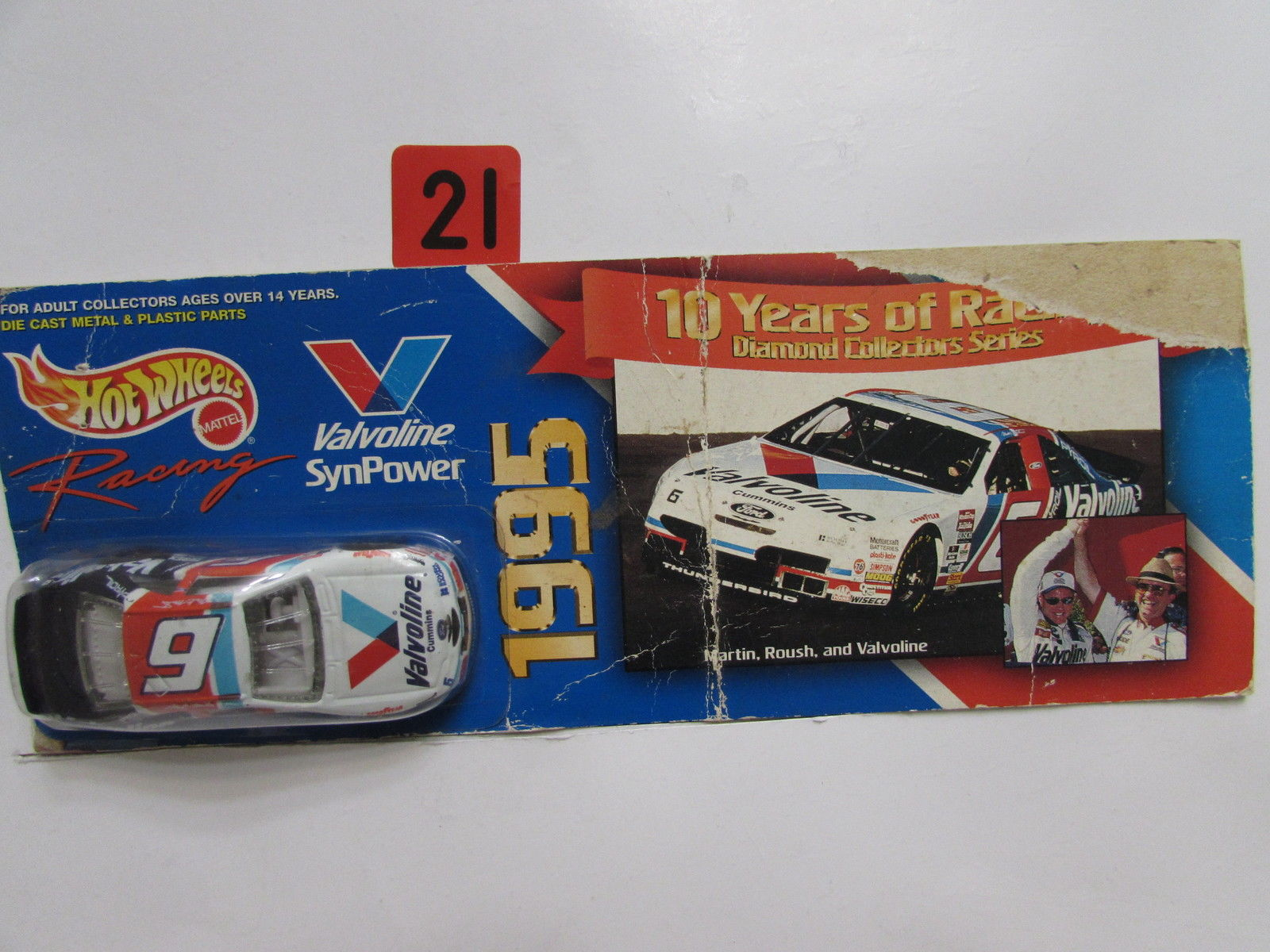 HOT WHEELS 1995 MARTIN, ROUSH, & VALVOLINE SYNPOWER