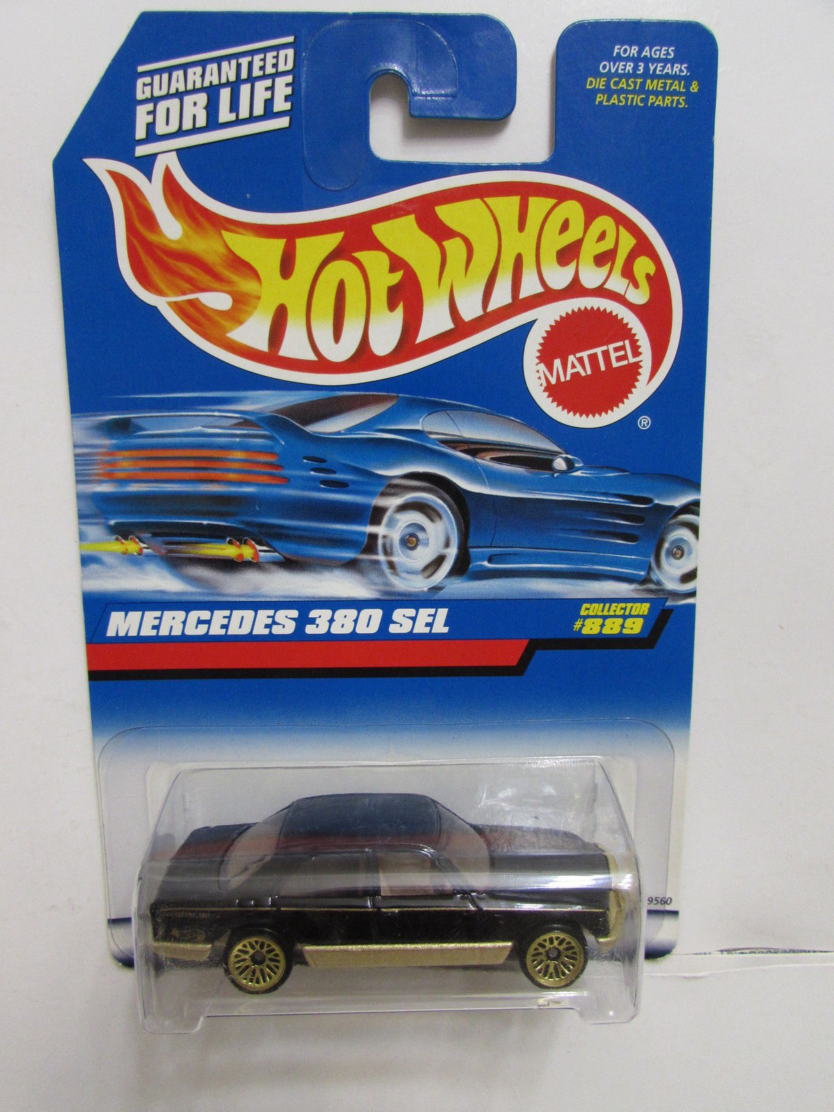 HOT WHEELS 1998 MERCEDES 380 SEL #889 BLACK