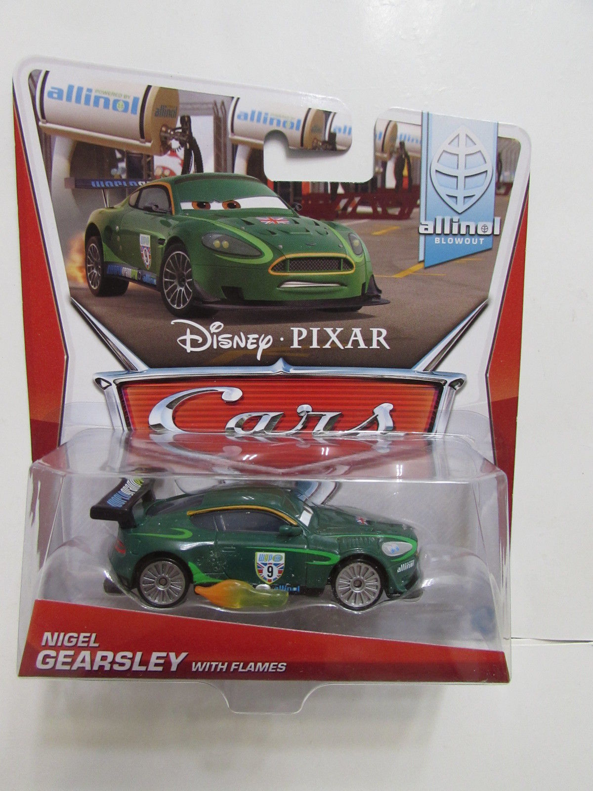 DISNEY PIXAR CARS ALLINOL BLOWOUT NIGEL GEARSLEY WITH FLAMES
