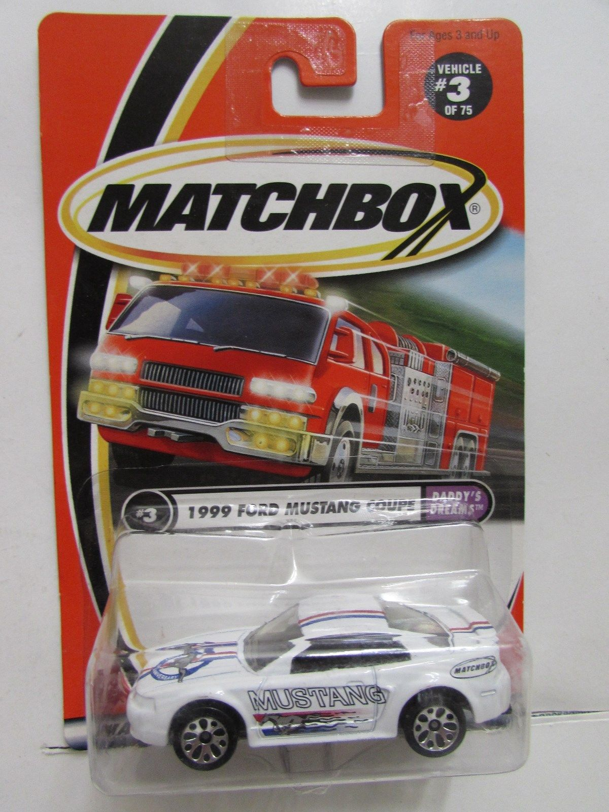 MATCHBOX 2000 #3/75 1999 FORD MUSTANG COUPE E+