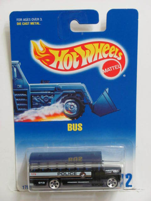 HOT WHEELS 1991 BLUE CARD BUS POLICE #72
