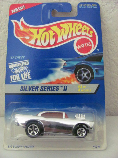 HOT WHEELS 1995 SILVER SERIES II #3/4 57 CHEVY #422