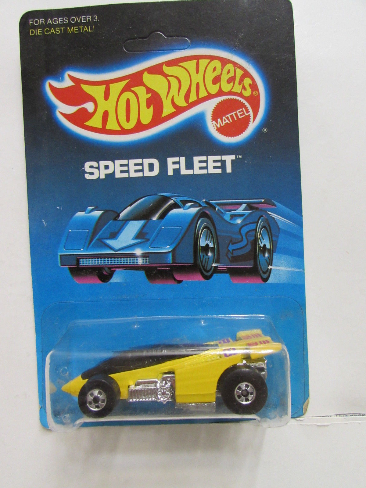 HOT WHEELS 1986 SPEED FLEET SHADOW JET YELLOW