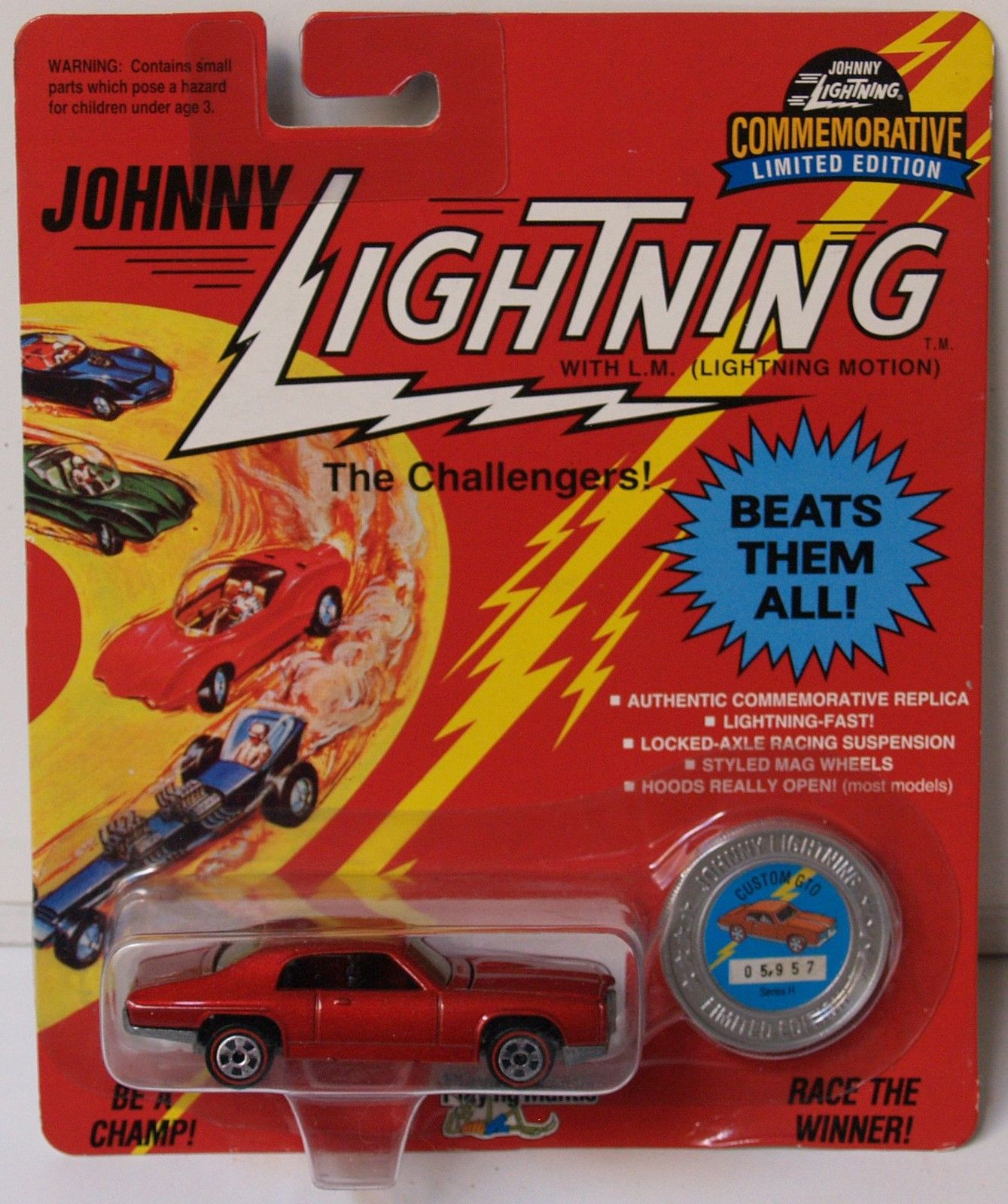 JOHNNY LIGHTNING COMMEMORATIVE - RED CUSTOM GTO - SERIES H