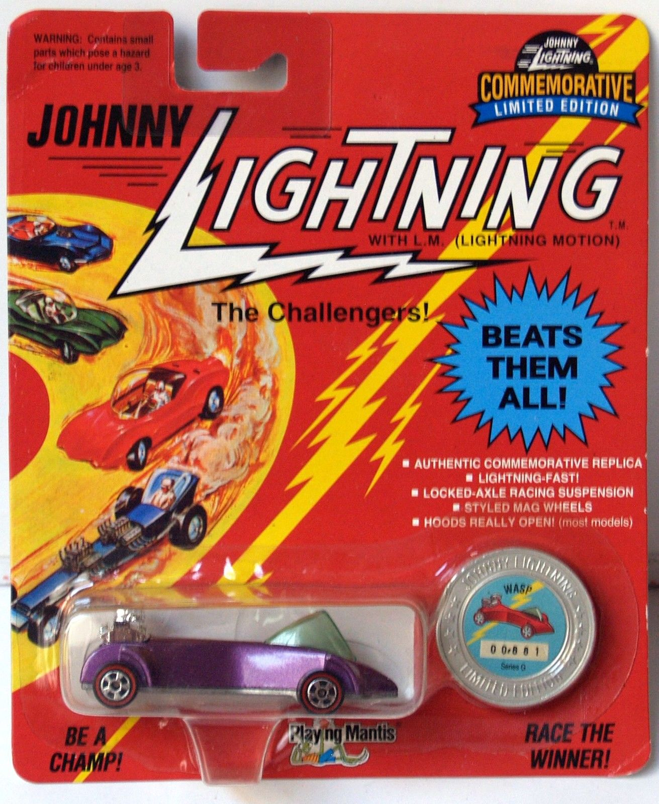 JOHNNY LIGHTNING COMMEMORATIVE - PURPLE WASP - SERIES G