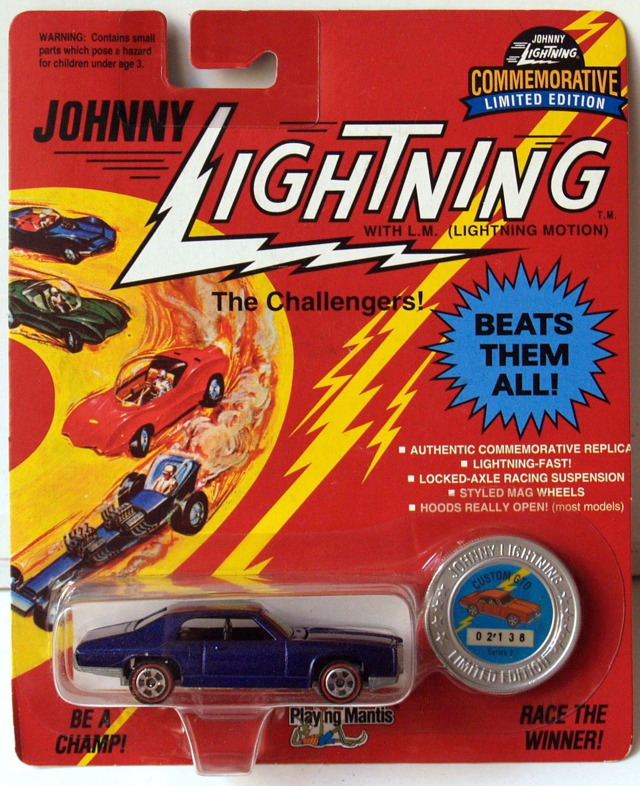 JOHNNY LIGHTNING COMMEMORATIVE - DARK PURPLE CUSTOM GTO - SERIES I