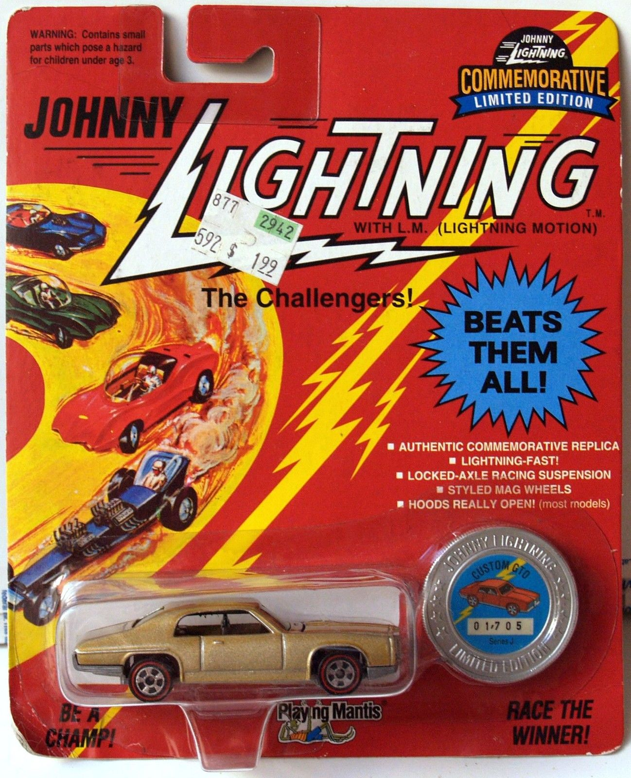 JOHNNY LIGHTNING COMMEMORATIVE - GOLD CUSTOM GTO - SERIES J