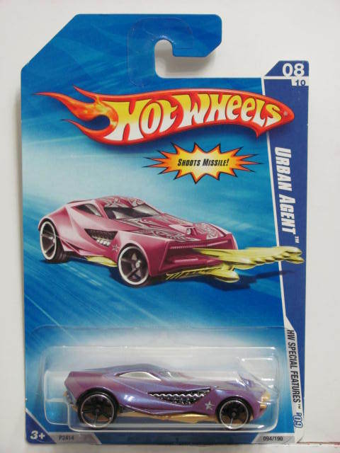 HOT WHEELS 2009 HW SPECIAL FEATURES URBAN AGENT #08/10