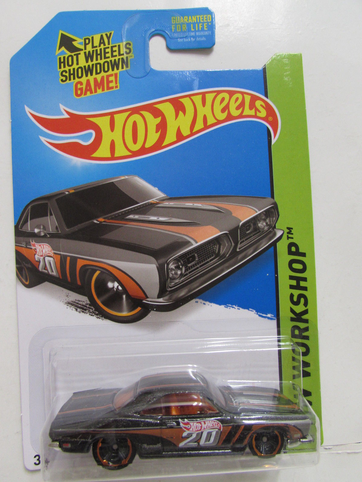 HOT WHEELS 2014 HW WORKSHOP - MUSCLE MANIA '68 PLYMOUTH BARRACUDA FORMULA S
