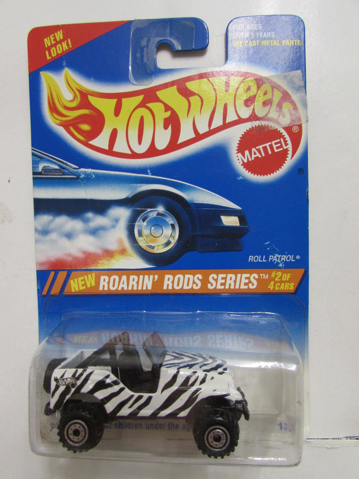 HOT WHEELS 1995 ROARIN' RODS SERIES - ROLL PATROL #304 CHROME RIMS