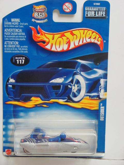 HOT WHEELS 2003 OUTSIDER SILVER #117