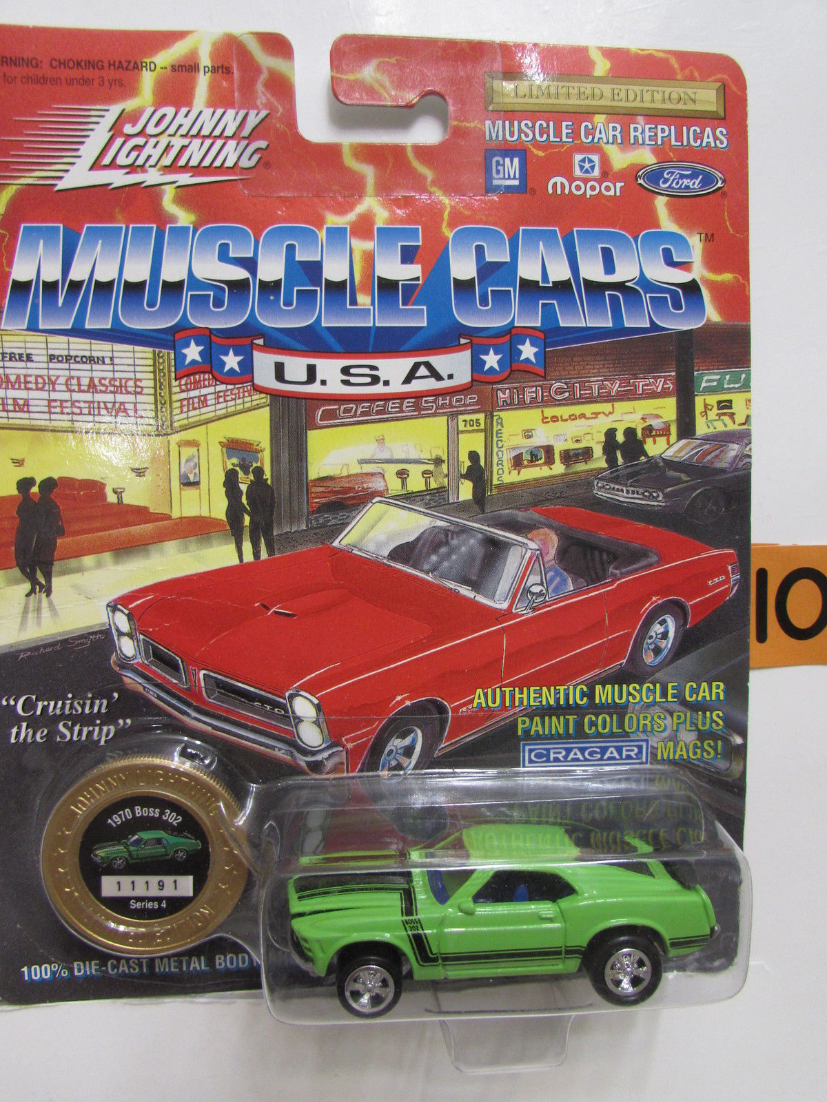 JOHNNY LIGHTNING MUSCLE CARS 1970 BOSS 302 GREEN