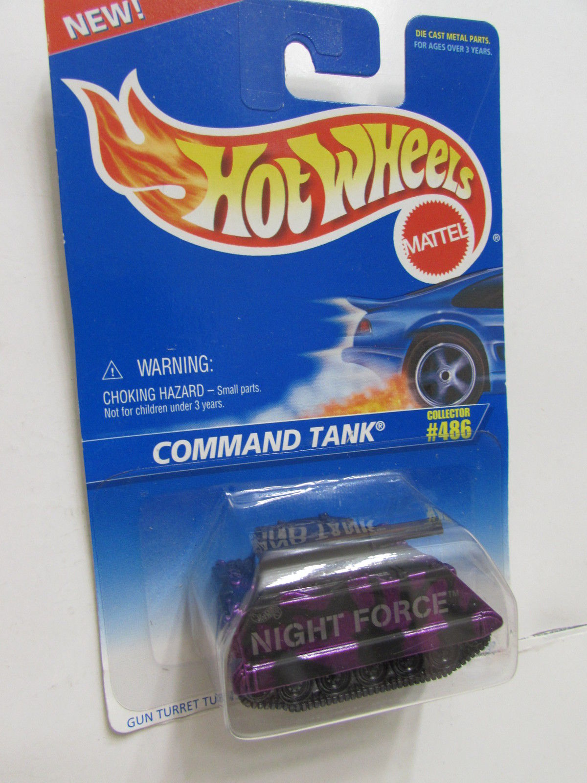 HOT WHEELS 1996 COMMAND TANK #486