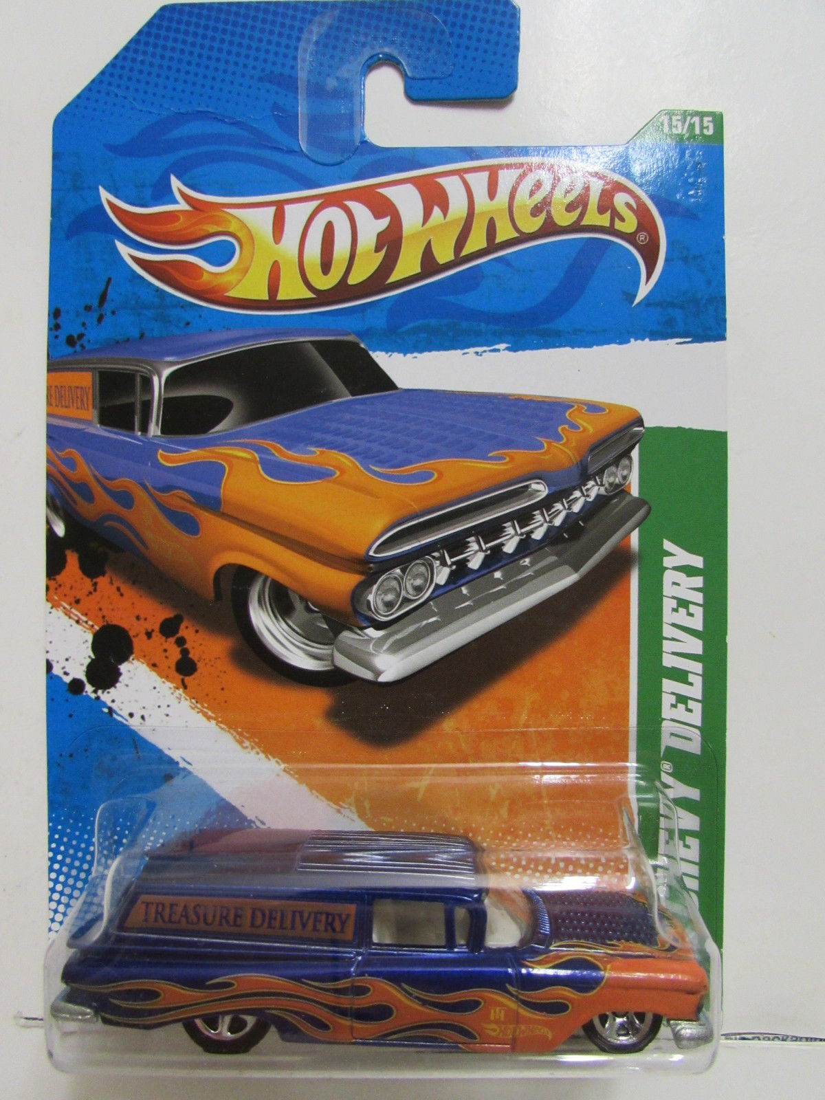 HOT WHEELS 2011 TREASURE HUNT '59 CHEVY DELIVERY REG.