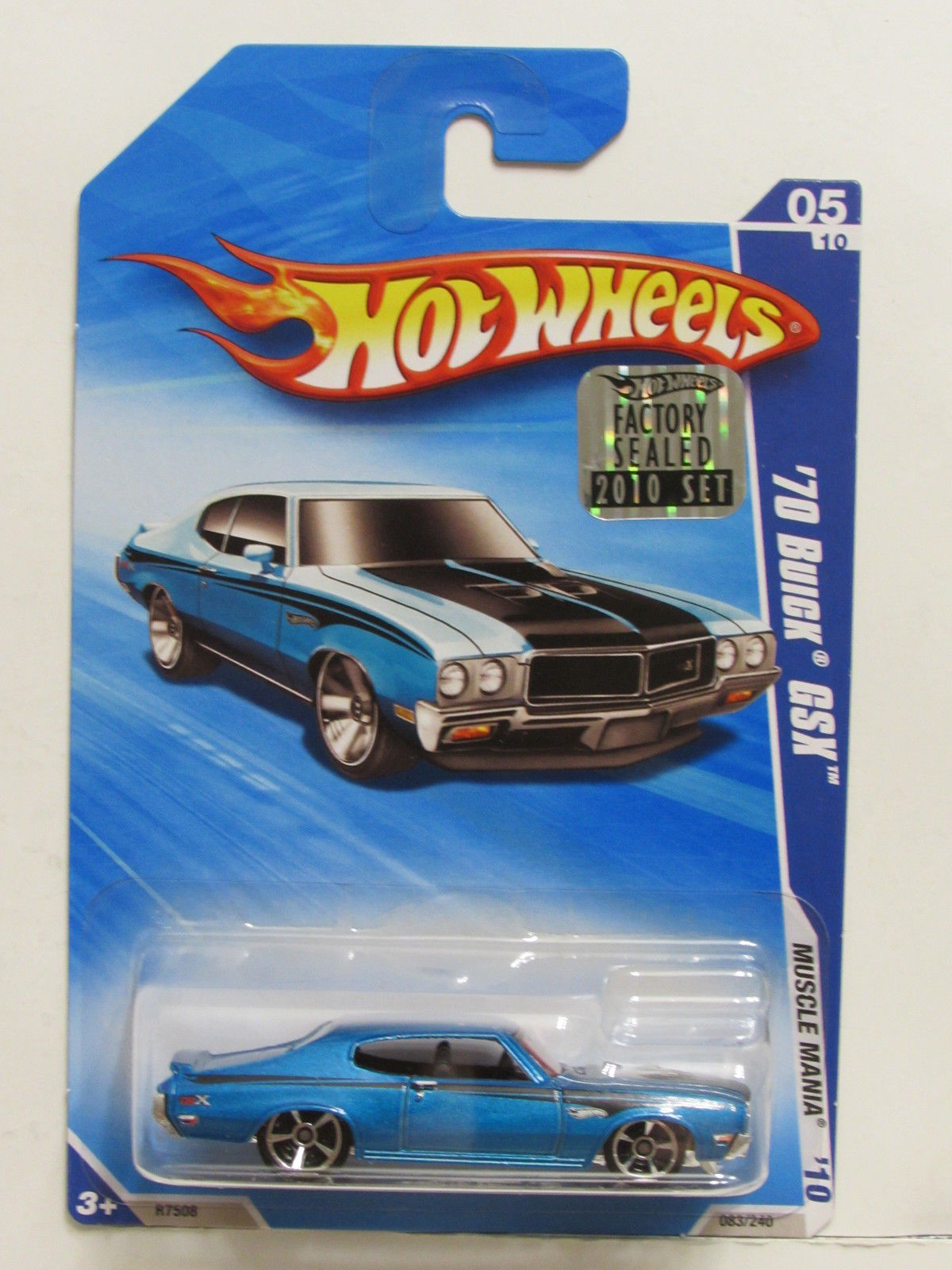 HOT WHEELS 2010 MUSCLE MANIA '70 BUICK GSX BLUE FACTORY SEALED