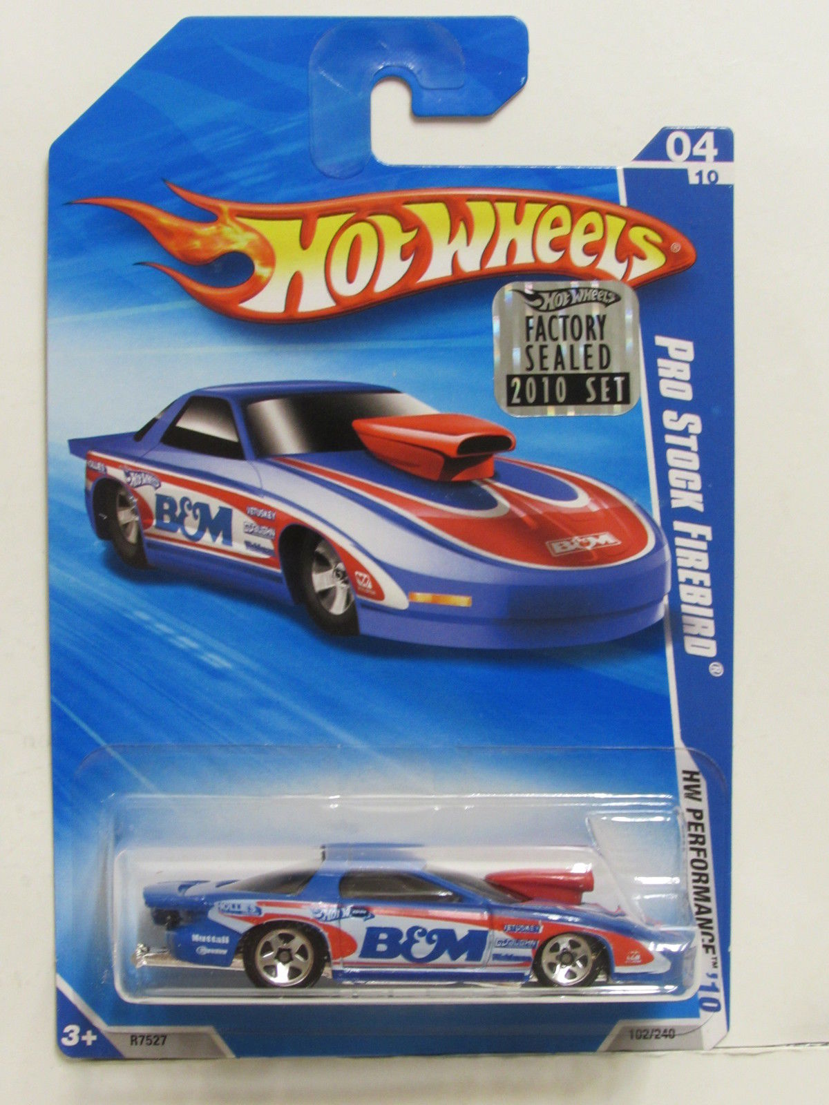 HOT WHEELS 2010 HW PERFORMANCE PRO STOCK FIREBIRD BLUE FACTORY SEALED