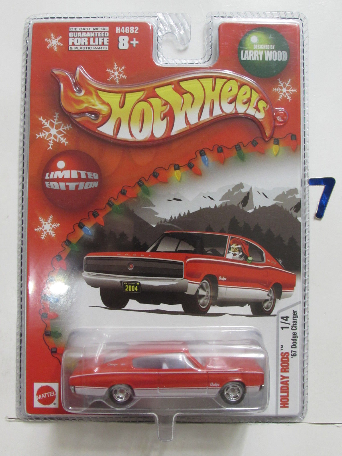 HOT WHEELS HOLIDAY RODS 2005 '67 DODGE CHARGER RED