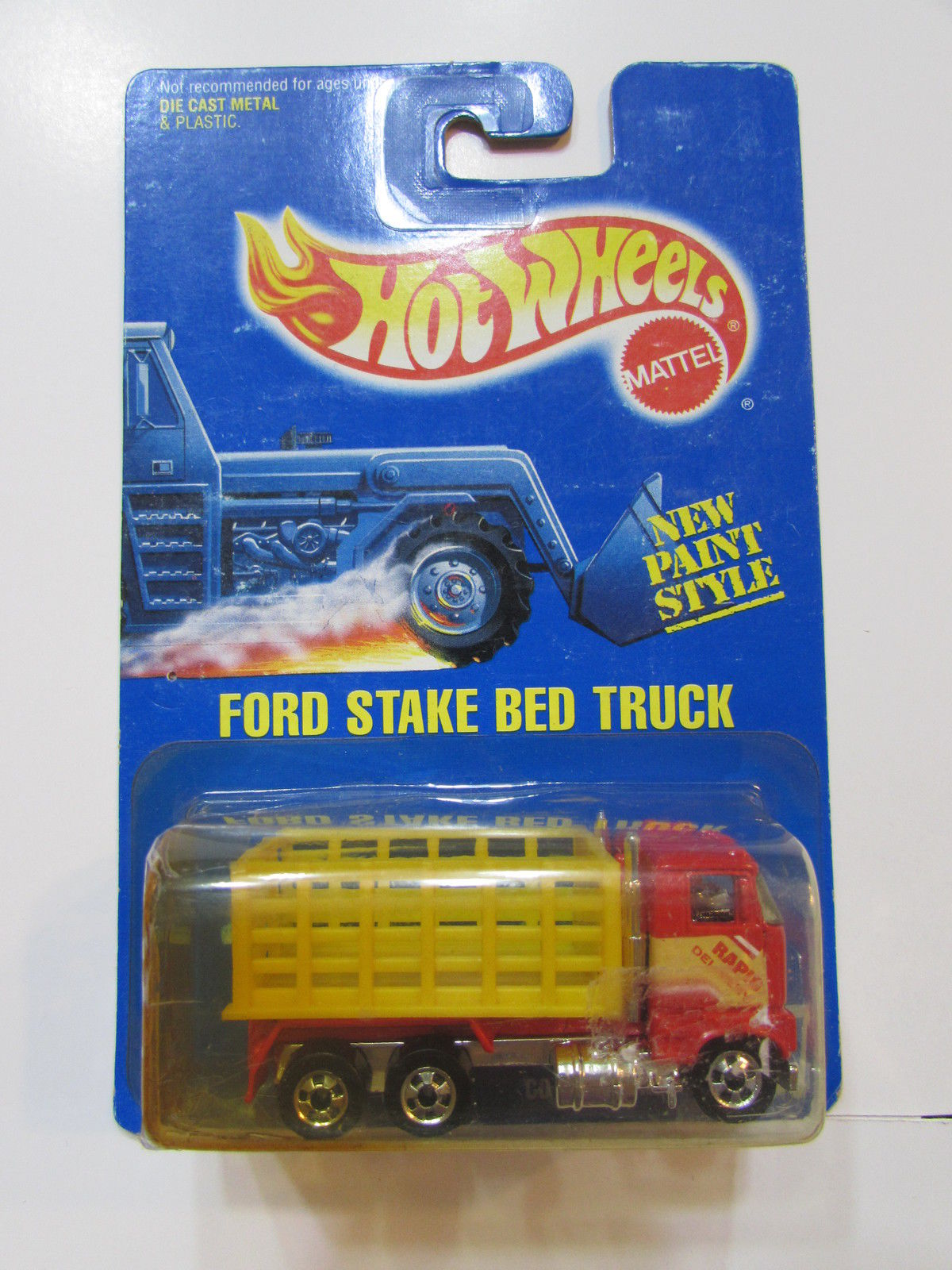 HOT WHEELS 1991 BLUE CARD FORD STAKE BED TRUCK #237